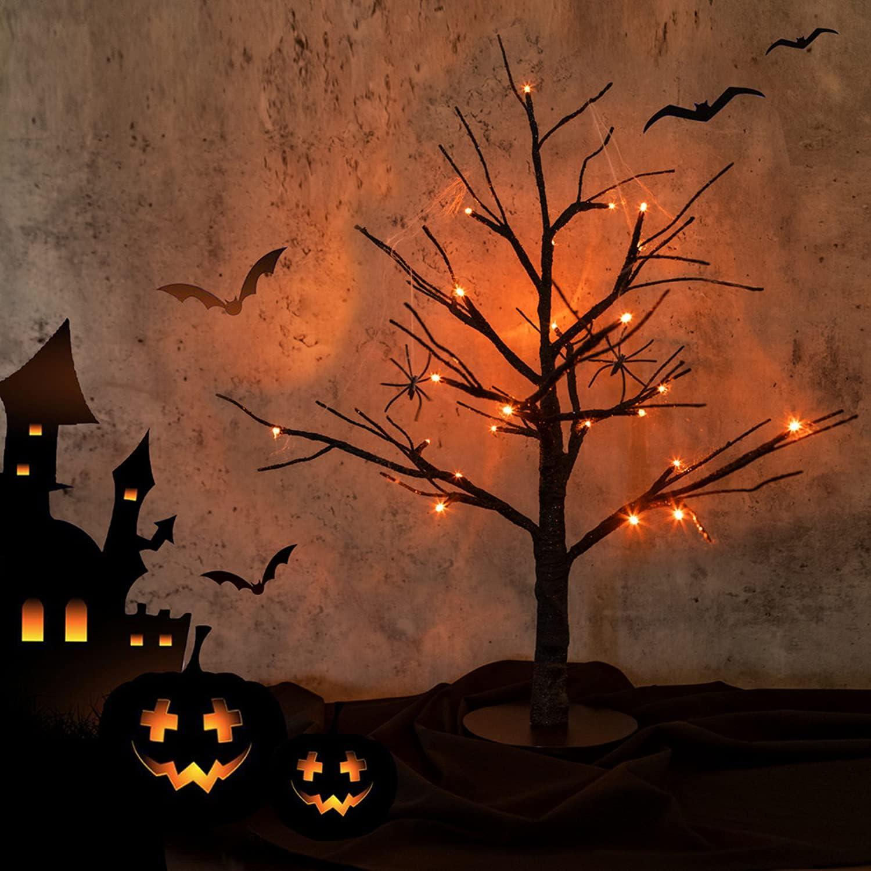 Hypestar Halloween Tree Inexpensive with 24 Orange Lights Spasm price USB LED Battery O