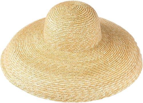 venta con descuento HBHUBO Sombrero de Paja, Cúpula Sombrero Sombrero Sombrero de Paja de Paja Vintage Dama Elegante Sombrilla Sombrero de Paja de Playa  orden en línea