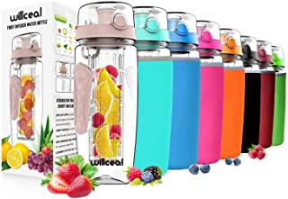 featured product Willceal Fruit Infuser Water Bottle 32oz Durable,  Large - BPA Free Tritan,  Flip Lid,  Leak Proof Design - Sports,  Camping