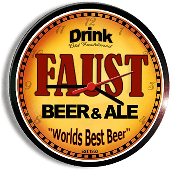 FAUST Beer And Ale Cerveza Wall Clock