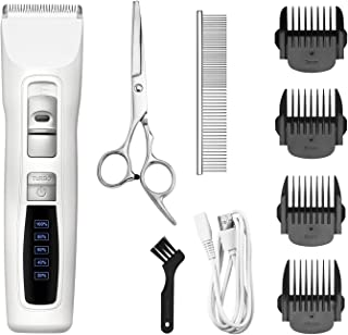Bousnic Dog Clippers 2-Speed Cordless Pet Hair Grooming Clippers Kit - Professional Rechargeable for Small Medium Large Dogs Cats and Other Pets