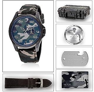 ساعة رجالية من فيتور جلد VT021M020808