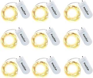 Terrasse IDESION Guirlandes Lumineuses /à Piles /Étanche Argent Fil 2m avec 20LEDs Multicolore Lumi/ère LED pour No/ël Pelouse Maison D/écoration F/êtes Jardin Packs de 6 Mariages