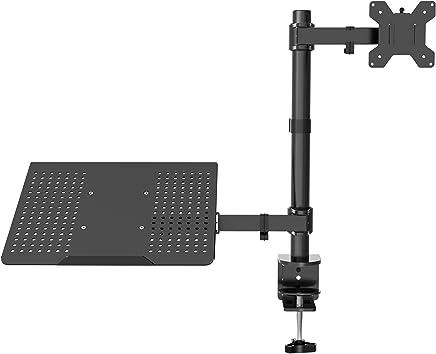 "1home – Sargento para portátil Soporte para portátil Monitor de Brazo de Escritorio Soporte Totalmente Ajustable 13""-27"""