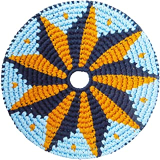 Pocket Disc Flying Disc - Crocheted Foldable Frisbee Toy Perfect for Both Kids and Adults - Supports Guatemalan Fair Trade