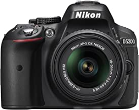 Nikon D5300 24.2 MP CMOS Digital SLR Camera with 18-55mm f/3.5-5.6G ED VR II Auto Focus-S DX NIKKOR Zoom Lens, Built-in WiFi and GPS - Black (Renewed)