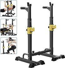 Squat Rack in Hoogte Verstelbaar, Halterstandaard Halterhouder voor Lange Halter, Krachttraining Fitness Barbell, Squat St...