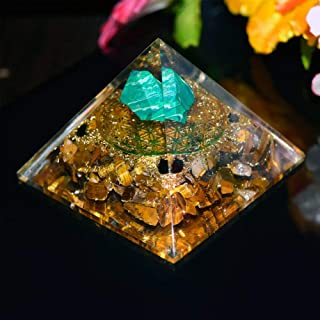 Cristal naturel n/éphrite Lapis Lazuli /& S/él/énite Orgone Pyramid Reiki gu/érison EMF Protection Energy Pyramid Crystal Orgonite Pyramids