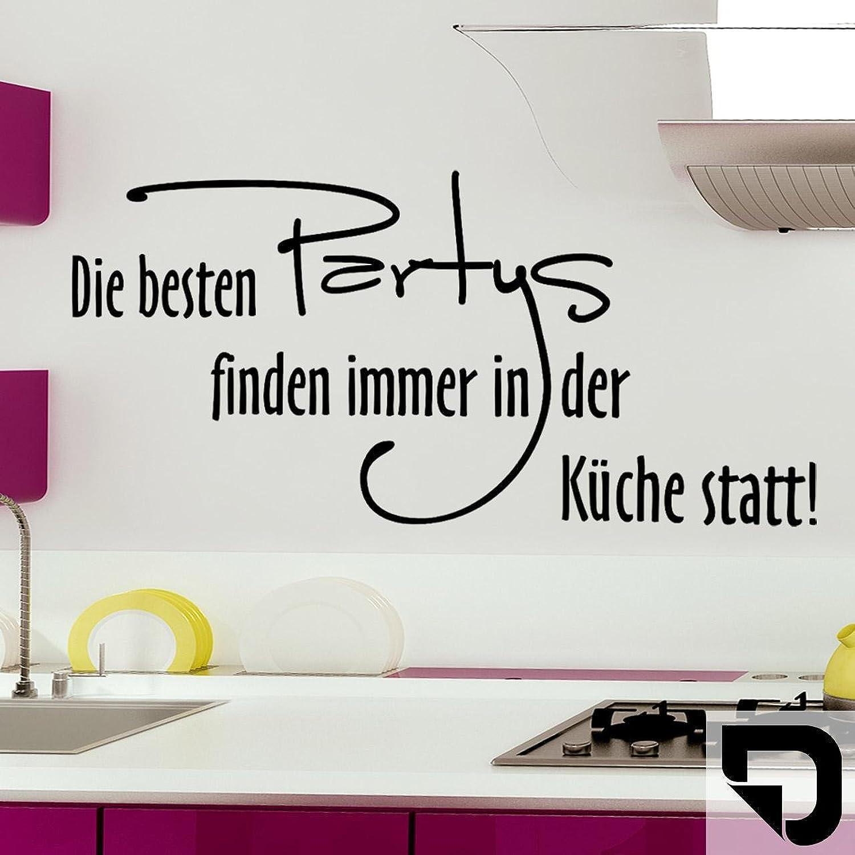 DESIGNSCAPE® Wandtattoo Die Besteen Partys Partys Partys finden immer in der Küche statt  120 x 55 cm (Breite x Höhe) schwarz DW801251-L-F4 B01E78Y9O8 315ecf