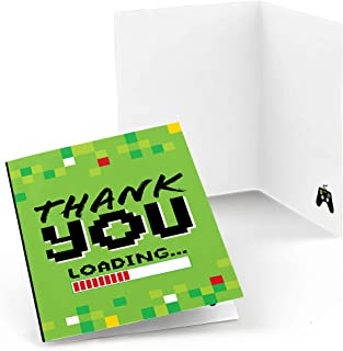 Game Zone - Pixel Video Game Party or Birthday Party Thank You Cards (8 Count)