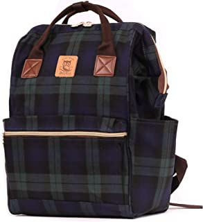 Laptop Backpack Computer Bag Traveling Backpack School Backpack Casual Daypack Plaid Pattern Stylish Design Waterproof