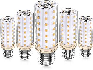 E27 LED Bombillas Maíz, 10W Equivalente 80W 100W Halógena, 3000K Blanco Cálido, E27 Maíz Bombillas, CA 220-240V No Regulable Sin Parpadeo E27 Lámparas, Paquete de 5, Eco.Luma