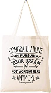Leaving or Going Away Goodbye Gift for Colleague Coworker Boss -Retirement or New Job Farewell Gift- Shoulder Bag Shopping...