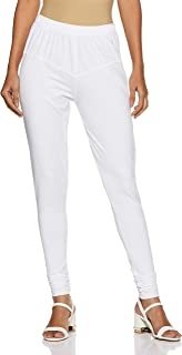 LUX LYRA Women's Leggings (LYRA IC Legg White 10_Free Size)