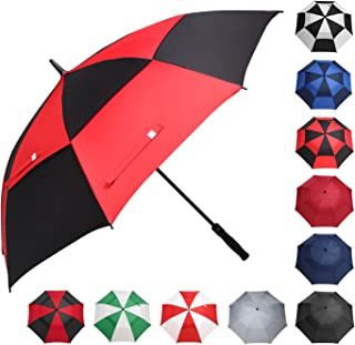 black and gold golf umbrella
