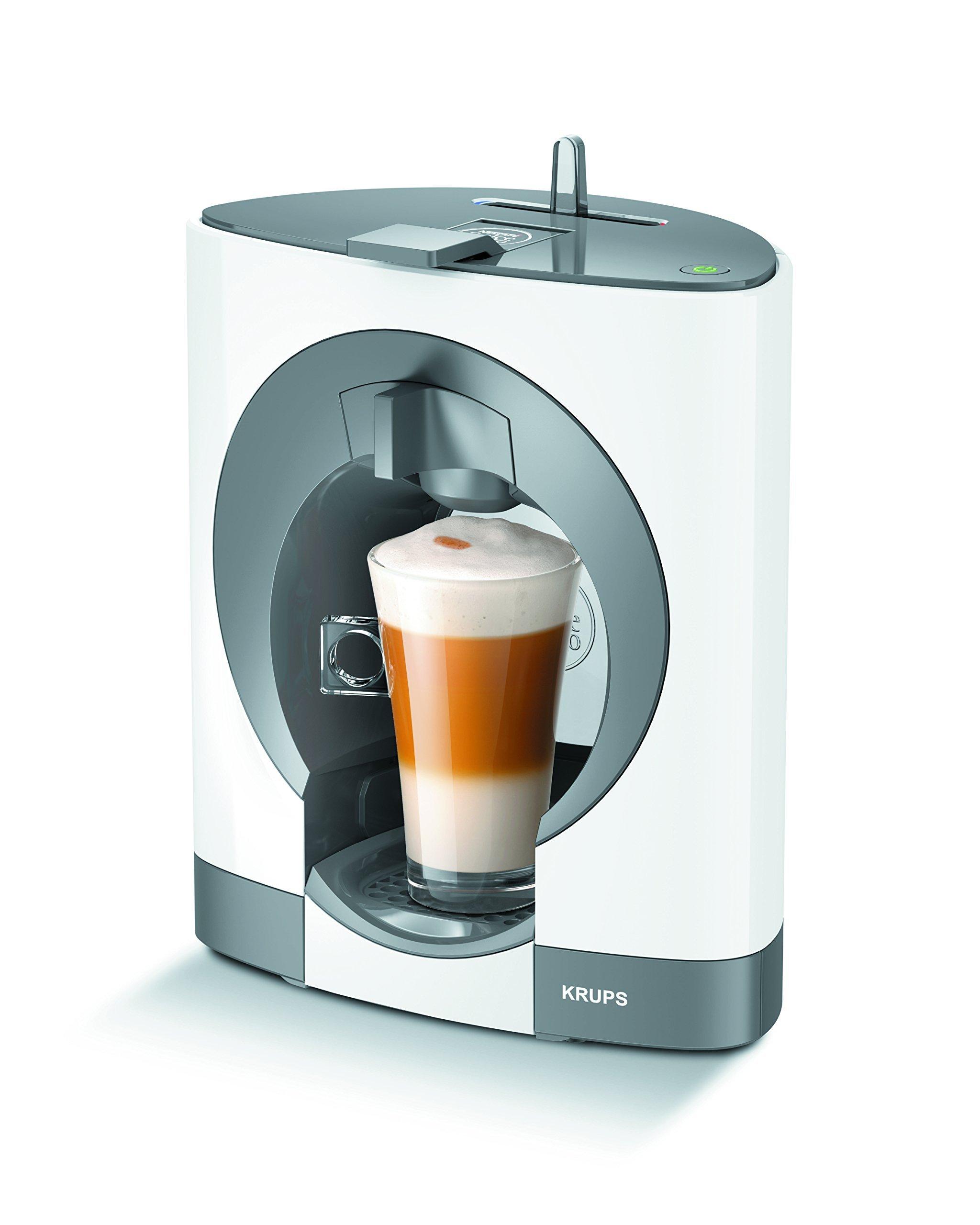 Krups Dolce Gusto Oblo KP1101 - Cafetera de cápsulas, 15 bares de presión, color blanco (Reacondicionado): Amazon.es: Hogar
