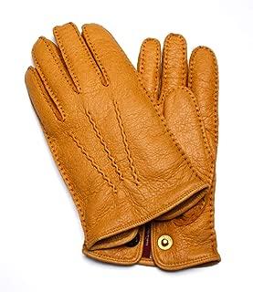 Dents トラファルガー 手袋 ペッカリーレザー カシミア裏地付き メンズ - コルク
