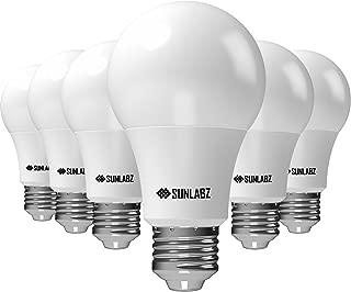 SunLabz Energy-Saving LED Light Bulbs - A19, Soft-White, 60-Watt Equivalent, E26 Socket, Non-Dimmable, Pack of 6
