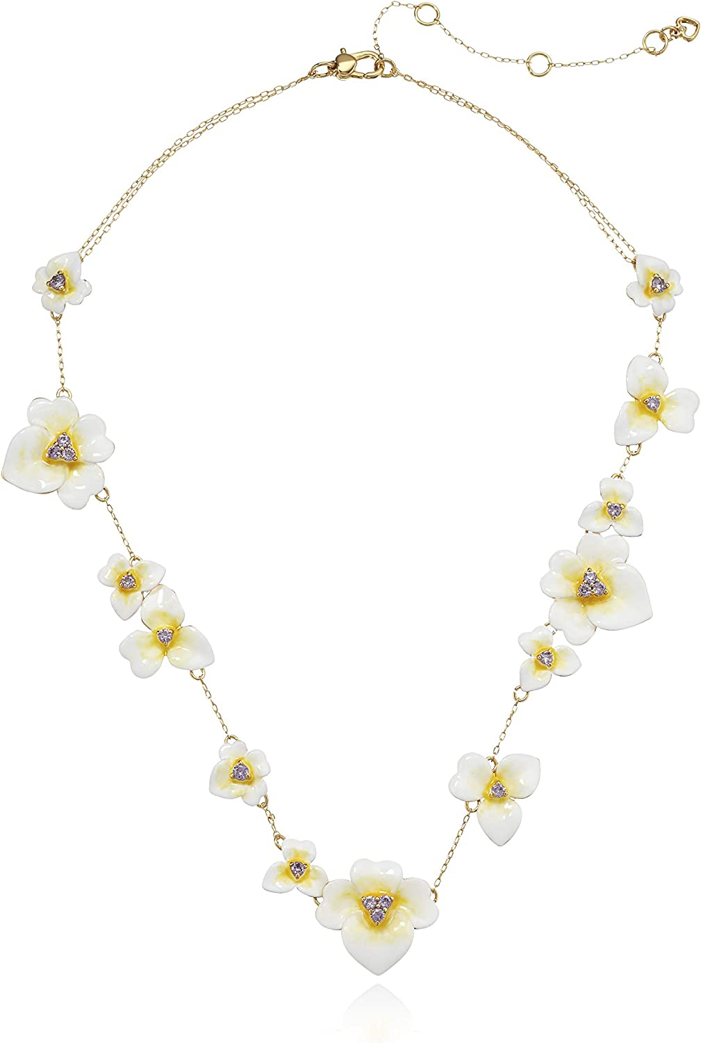 NEW Kate Spade New York Precious Regular store Enamel Necklace Pansy Scatter