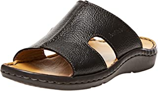 Josef Seibel Black Slides Slipper For Men
