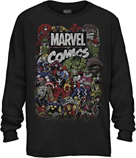 Comics Logo Thor Hulk Iron Man Avengers Spiderman Daredevil Strange Loki Thanos Adult Mens Graphic Long Sleeve Shirt