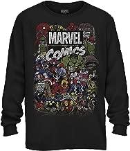 Comics Logo Thor Hulk Iron Man Avengers Spiderman Daredevil Strange Loki Thanos Adult Mens Graphic Long Sleeve Shirt
