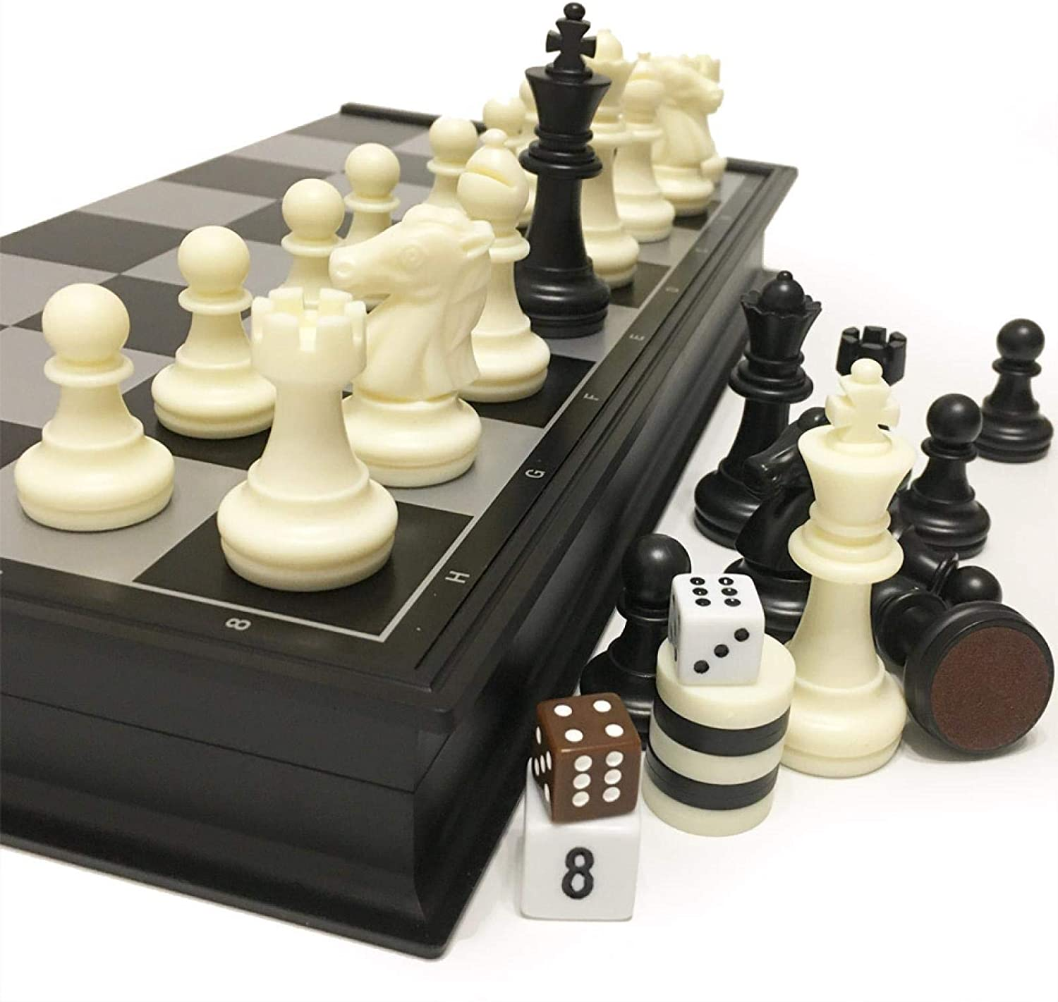 MAGRF Chess Max 58% OFF Set, Board Back and Discount mail order Checkers Set,Chess