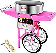 ZCED Machine à Barbe à Papa avec Chariot Professionnelle électrique Commerciale Candy Floss Maker Facile Utilisation Machi...