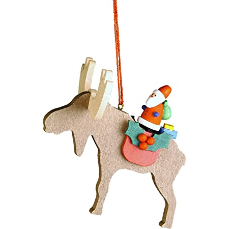 Christian Ulbricht 10 0481 Hanging Ornament Santa On Elk Brown Home Kitchen