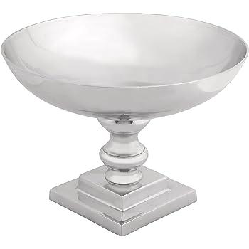 Benzara Simply Brilliant Metal Pedestal Bowl