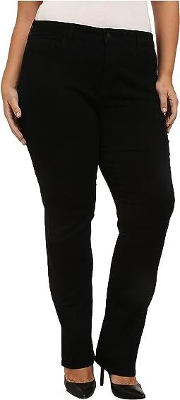 NYDJ Plus Size - Plus Size Hayley Straight in Black