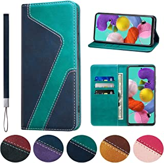 Huping Samsung A71 Case, Leather Color Contrast Style Wallet Case with Card Holder Shockproof Flip Stand Cover For Samsung...