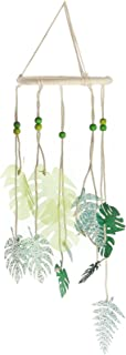 Roser Life Hanging Mobile Art⎮Baby Mobile⎮Sky Mobile⎮Eclectic Decor⎮Handmade Nursery Crib Boy Girl Kids Infant Adult Ceiling Home Outdoor Garden Green Tropical Leaf Leaves Decorations (Pack of 1)