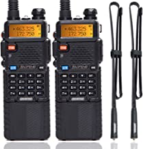 2 Pack BaoFeng UV-5R 8W High Power Tri-Power 1W/4W/8W Portable Dual Band Two-Way Radio 3800mAh Battery & ABBREE Tactical A...