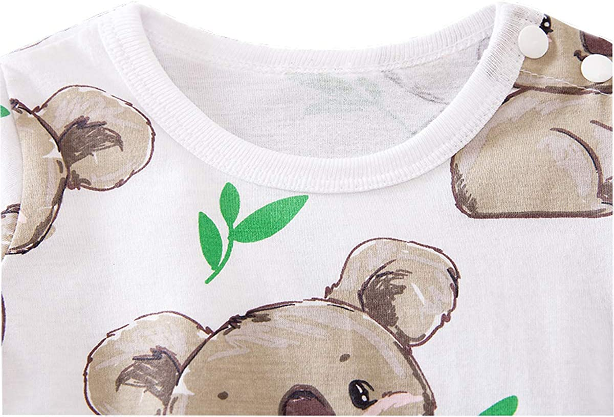 Newborn Baby Bodysuits One-Pieces Summer Jumpsuit Clothes Rompers for Boys and Girls