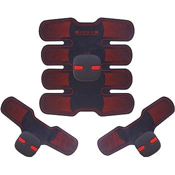 ems 腹筋ベルト 筋トレ 腹筋 ベルト マッサージ器 ダイエット 腹筋トレーニング フィットネス USB充電式 男女兼用 2種類モード 6プログラム 15段階強度 A-ZONE