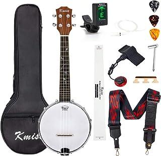 Kmise Banjo Ukulele Size 23 Inch With Bag Tuner Strap Strings Pickup Picks Ruler Wrench Bridge (MI2562)