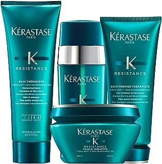 Kerastase Resistance Bain Therapiste Shampoo 250ml Masque Therapiste 200ml and Soin Premier Therapiste 200ml