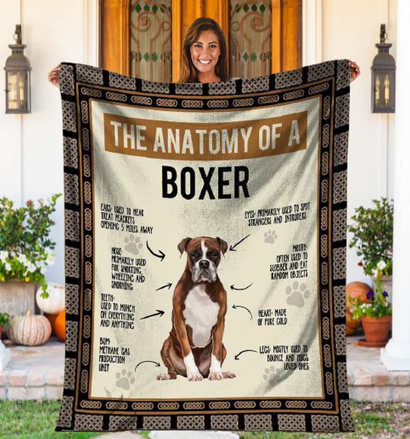 The Anatomy Of Max 68% OFF A Boxer Dog Super Ligh Flannel Blanket Throw Soft Dealing full price reduction