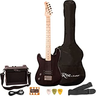 Best Rise by Sawtooth Left Handed 3/4 Size Electric Guitar Kit, Black Review