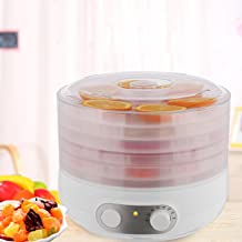 CINUE 500W Electric Food Fruit Dehydrator Machine 5 Layers Height Adjustable Vegetable Dryer Snack-Maker US Plug White