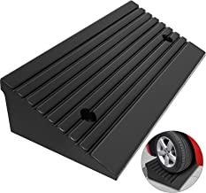 "Mophorn Curb Ramp Heavy Duty 5 Ton Rubber Curb Ramp 4"" High 23-1/2"" Length Car Ramp for Loading Dock Bike Mower Cart"