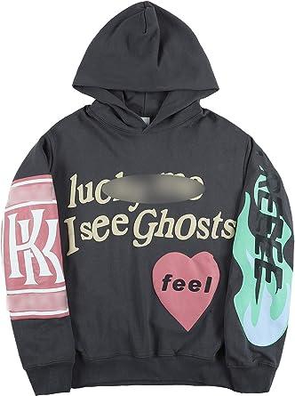 THE SCOTTS Men Graphic Hoodies Kanye Lucky Me I See Ghosts Pullover Hoodies Hip Hop Hoodie Sweatshirts
