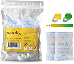 50 Gram [6PACKS] Rechargeable Silica Gel Desiccant Packets Desiccant Bags Orange to Green indicating for Air Dryer Food Grade