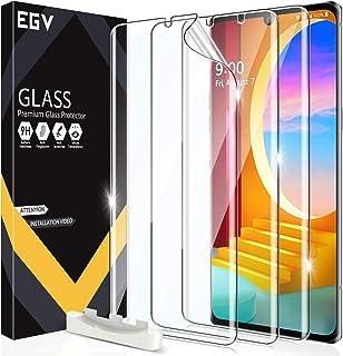 EGV 3 Pack Screen Protector Compatible with LG Velvet/LG Velvet 5G UW, HD Clear Flexible Film, Positioning Tool, Support F...
