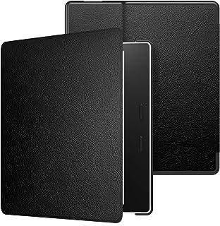 Capa Kindle Oasis de Couro PU (aparelho com temperatura de luz ajustável - S8IN4O - 2019-2020) - Preta