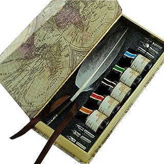 GC Schreibfeder Antike Natürliche Graue Truthahnfeder Federhalter-Set PA-523 B01GCDQ480  Gute Qualität