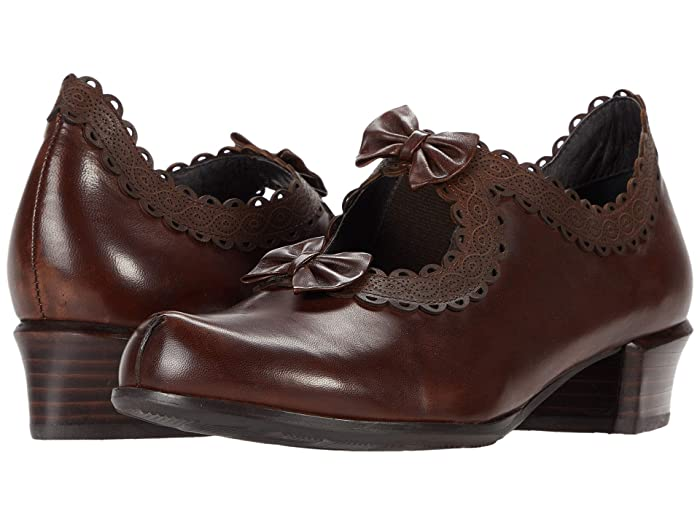 Vintage Heels, Retro Heels, Pumps, Shoes Spring Step Jezebel Chocolate Brown Womens Shoes $112.46 AT vintagedancer.com