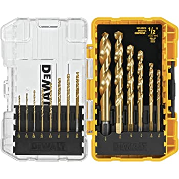 5-Speed Drill Press /& DB15 Titanium-Coated Drill Bit Set WEN 4208 8 in 15 Piece