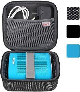 BOVKE for Soundlink Color II/UE ROLL 360 Wireless Speaker Hard EVA Shockproof Carrying Case Storage Travel Case Bag Protective Pouch Box, Mesh Black